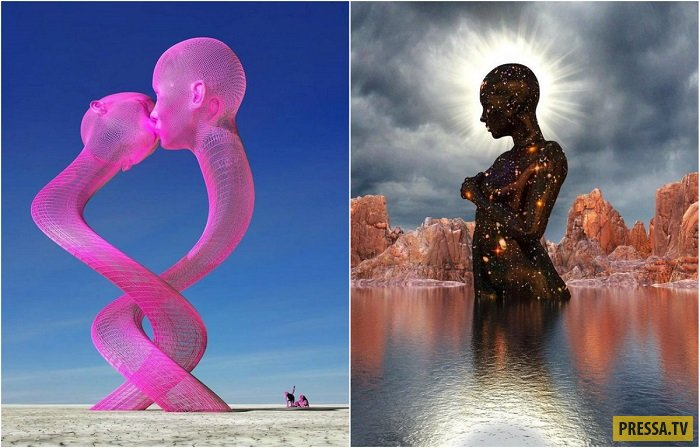 Удивительное искусство: Символизм в необычных цифровых 3D-скульптурах Чада Найта (26 фото)