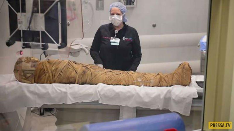 При сканировании у египетской мумии обнаружили рак (3 фото + видео)