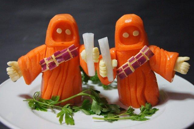 Забавные вегетарианские фигурки в стиле
