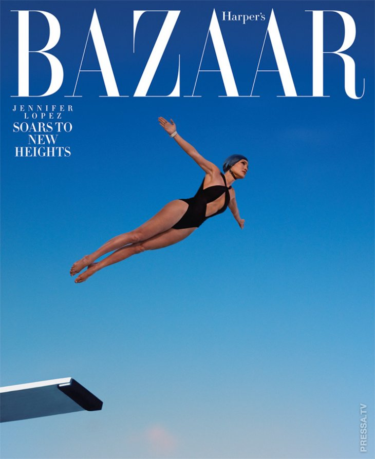 Дженнифер Лопес показала безупречную фигуру в февральском номере Harper's Bazaar - 2019