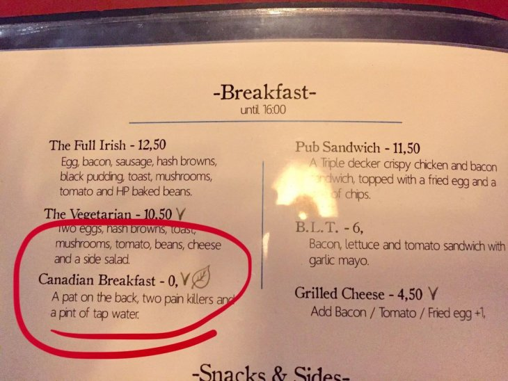Канадский завтрак