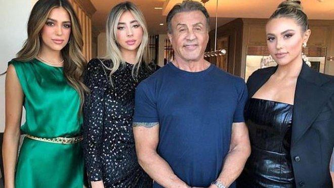 Сильвестр Сталлоне и его потрясающие дочери