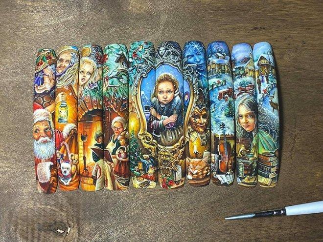 Вьетнамский мастер превращает накладные ногти в произведения искусства