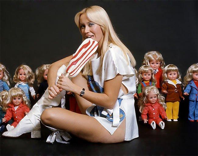 Агнета Фалтског из ABBA в шведском журнале Poster в 1976 году