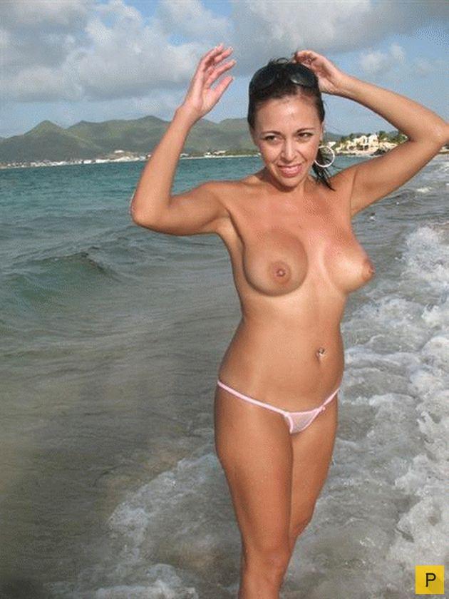 девчонки на пляже в неглиже частное фото