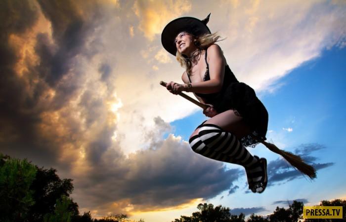 Почему считается, что ведьма летает именно на метле (10 фото)