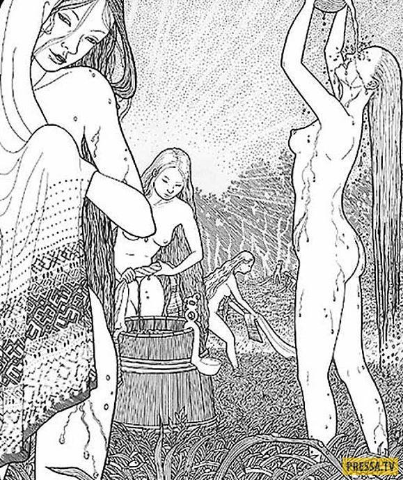 была информационная рисунки порно на библейские сюжеты она