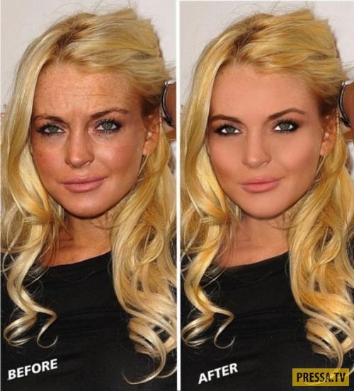фото звёзд до фотошопа и после