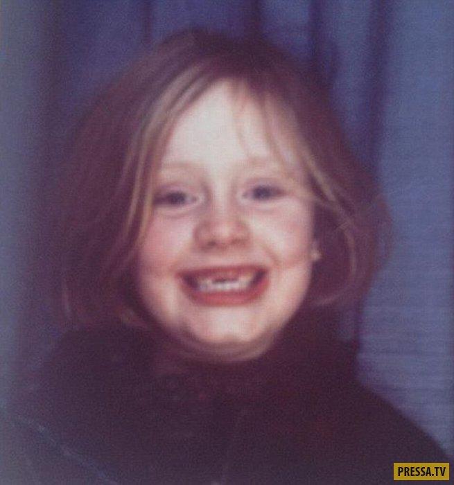 адель в детстве фото
