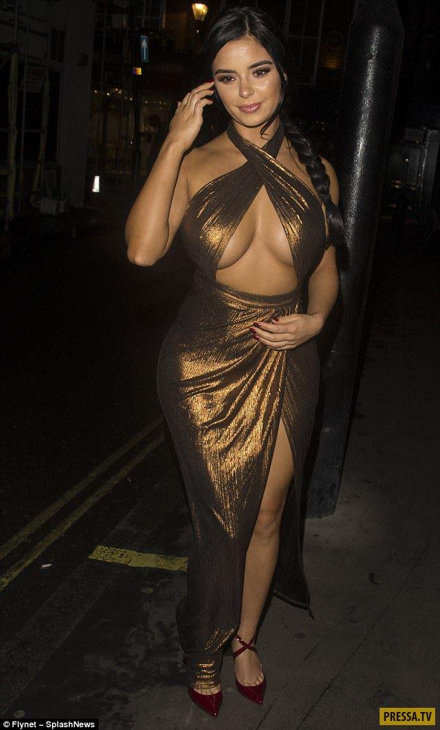 большие сись откровенное платье