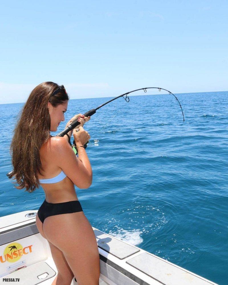 Hairy nudists girls fishing