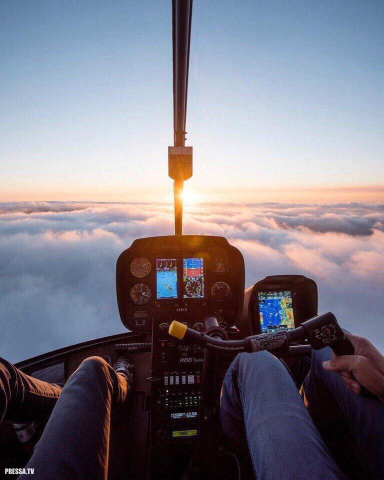 фото из окна вертолета творения отличались необычайной
