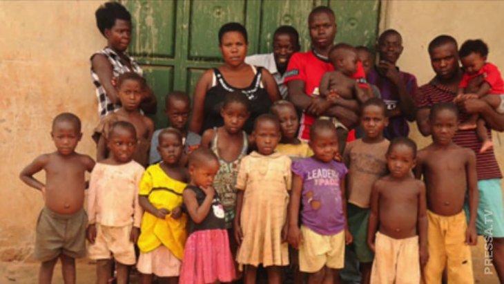 Женщина из Уганды родила 44 ребенка