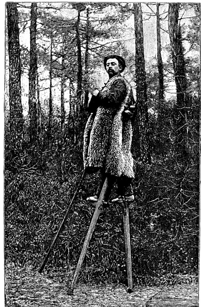 Ландес — часть Франции, где все население пользовалось ходулями