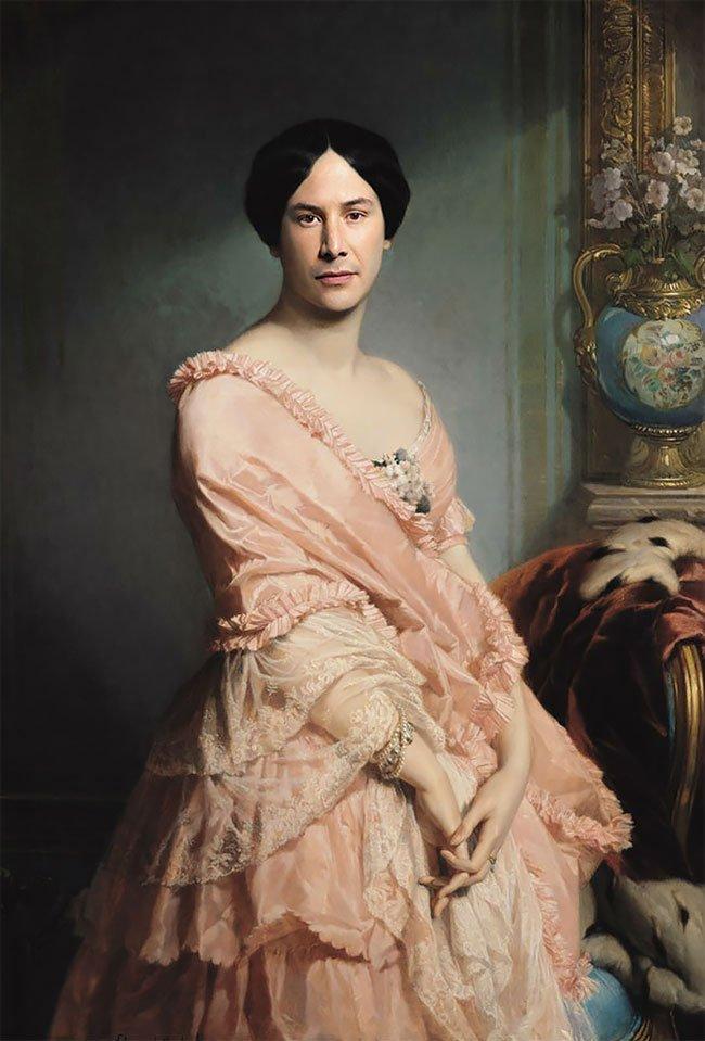 «Современный ренессанс»: классические картины с голливудскими знаменитостями