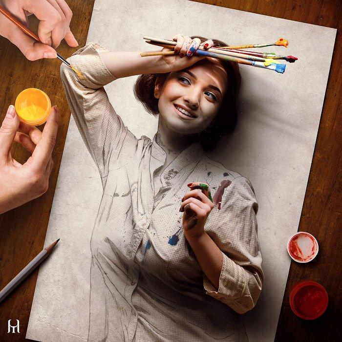 """Удивительные """"Живые зарисовки"""" от бразильского художника Туллиуса Хойера"""