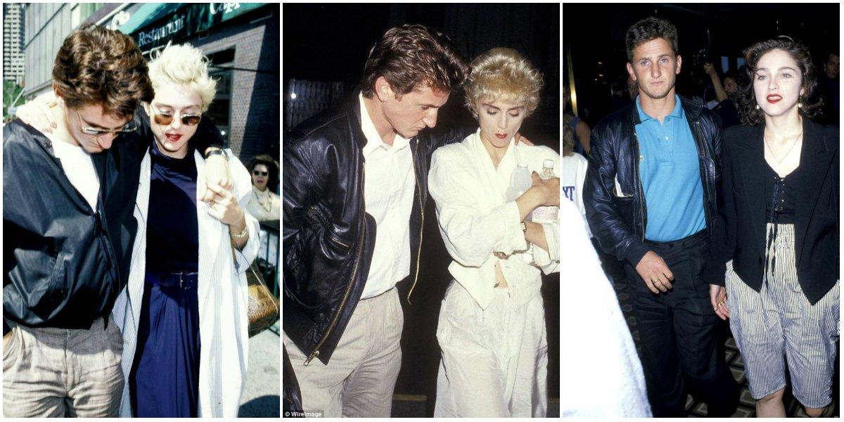 Мадонна с первым мужем Шоном Пенном в 1980-х годах
