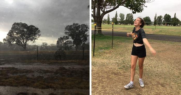 Долгожданный дождь в Австралии