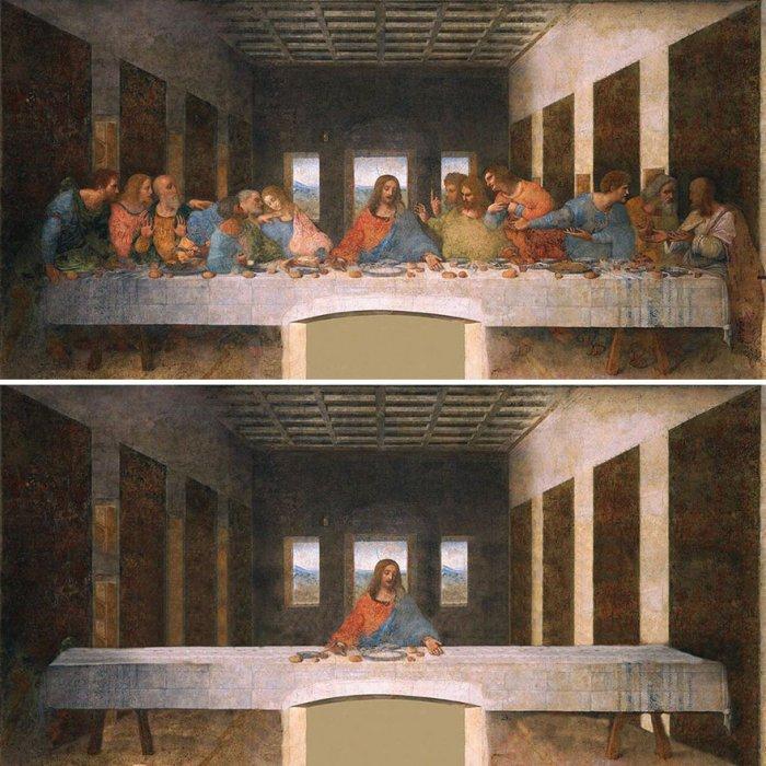 Cоциальное дистанцирование на примере известных классических картин